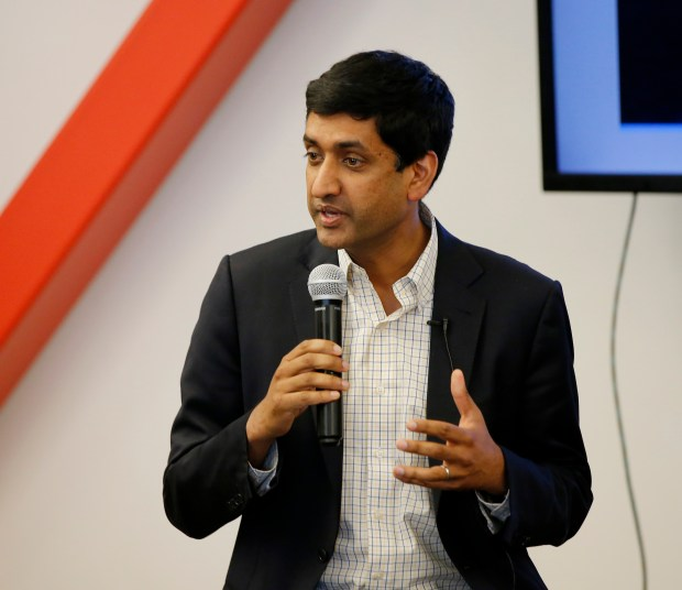 Congressman Ro Khanna is photographed during a panel discussion on the tech industry facing change in US immigration and work visa law hosted by Voice of America, Silicon Valley bureau at 500 Startups in San Francisco, Calif., on Thursday, June 1, 2017. (Josie Lepe/Bay Area News Group)