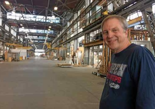 Factory_OS founder Rick Holliday still marvels at the stroke of good luck and perfect timing that brought his manufactured housing business to Mare Island, where multi-family housing units will be built in a controlled environment, faster and less expensively than conventional construction.(RACHEL RASKIN-ZRIHEN — TIMES-HERALD)