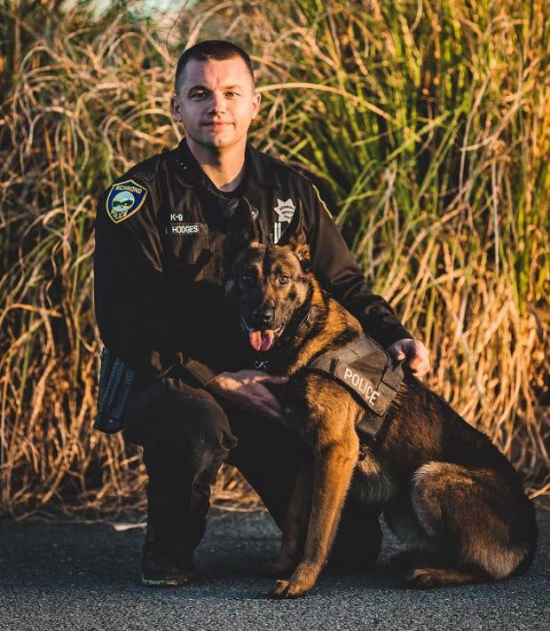 K-9 Officer Hodges and his canine partner Gunnar. (Richmond Police Department)