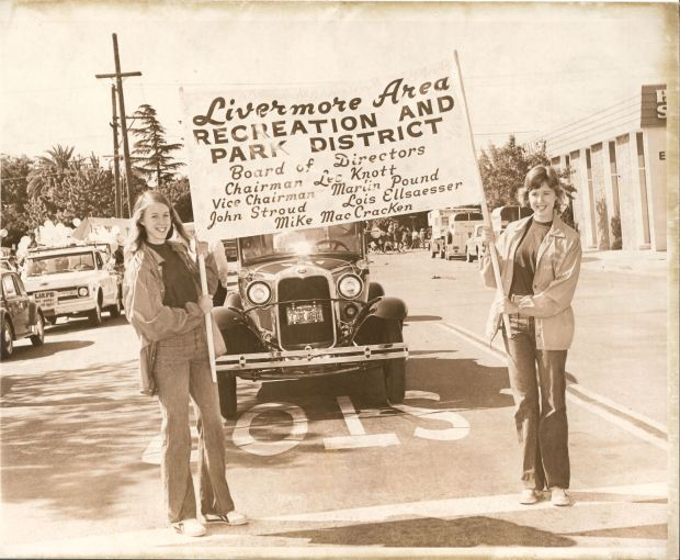 Livermore Area Recreation and Park District supporters take part in the rodeo parade in 1975. The LARPD is celebrating its 70th year in 2017.