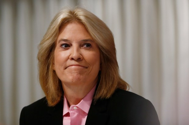 "FILE - This June 19, 2013 file photo shows Greta Van Susteren at the National Press Club in Washington. On Thursday, June 29, 2017, Van Susteren tweeted, ""I am out at MSNBC."" The network confirmed it, and said she will be replaced at the 6 p.m. hour by a show hosted by Ari Melber.Van Susteren started her nightly show on MSNBC on Jan. 9, 2017. She was a longtime host at Fox News Channel, but left the network in the summer of 2016. She's had the cable news hat trick: programs on CNN, Fox News and MSNBC. (AP Photo/Charles Dharapak, File)"