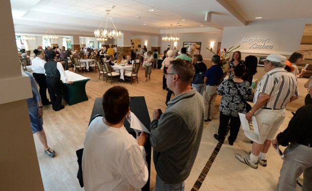 People get a first hand look and taste at Josephine's Kitchen at the grand opening of Belmont Village Albany in Albany, Calif., on Saturday, Aug. 5, 2017. This is the newest senior living community that offers 175 private residences for independent living, assisted living and memory care. (Dan Honda/Bay Area News Group)