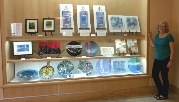 The works of glass artist Sylvia Chesson are on display through the end of August at the Orinda Library Gallery.