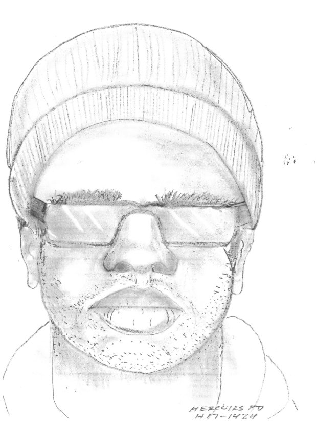 The Hercules Police Department is asking for the public's assistance inidentifying the person in this composite sketch made from the victim's description. A Hercules resident recently reported that, on January 4, 2017, at about 7:00 p.m., she was sexually assaulted on the walking trail on Refugio Valley Road in Hercules, CA. (Hercules Police Department)