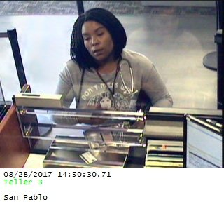 Antoinique Bryant, 29, of Richmond is suspected of stealing checks, creditcards and debit cards, from elderly residents in Moraga. (Photo provided by the Moraga Police Department)