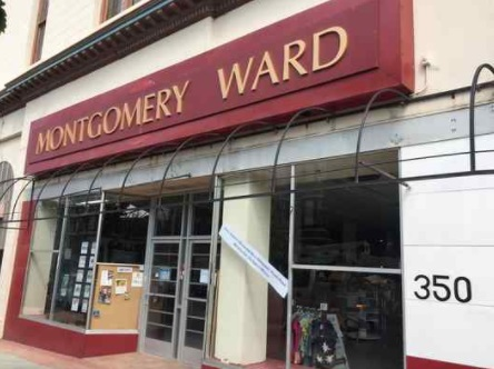 Sets included turning The Hub in downtown Vallejo into Montgomery Ward exterior.(CONTRIBUTED PHOTOS)