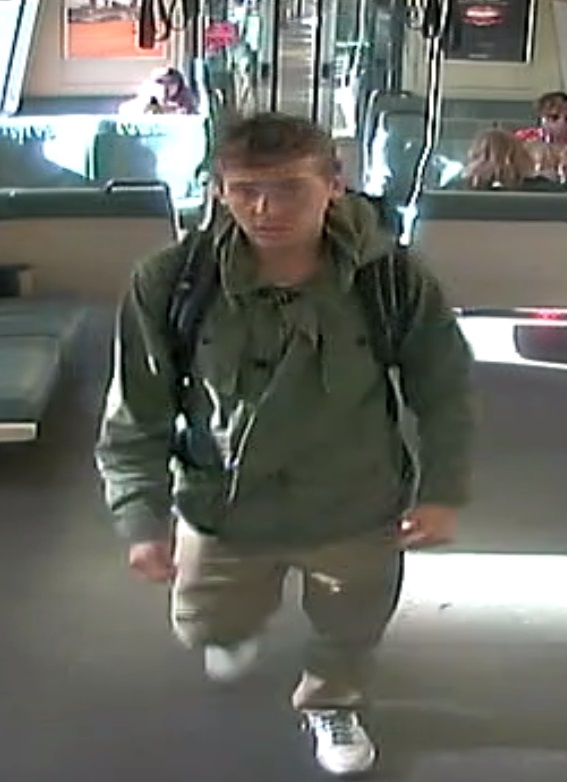 BART police released this image Monday, October 9, 2017 taken from surveillance camera footage of a man sought in connection with an assault that closed the Lafayette station for several hours Sunday.