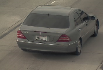 The Contra Costa Sheriff's Office shared this image Wednesday, November 1, 2017 of a 2005 Mercedes Benz sedan sought in connection with a fatal weekend shooting in Discovery Bay, California.