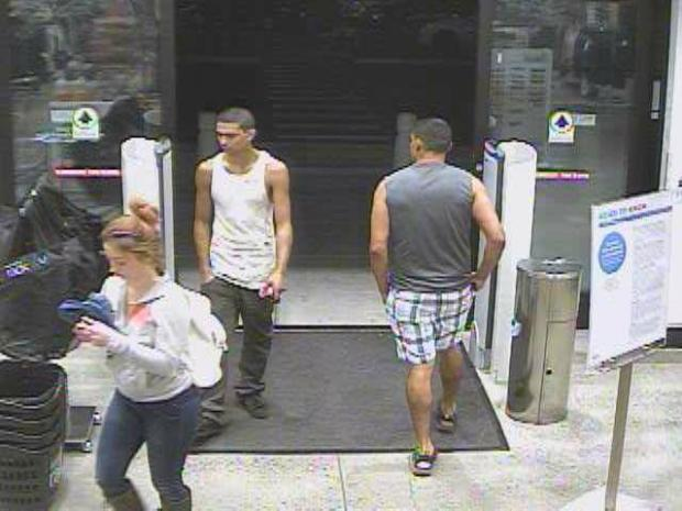 Danville police released this image Wednesday, November 8, 2017 of two suspects sought in an October 21 vehicle burglary.