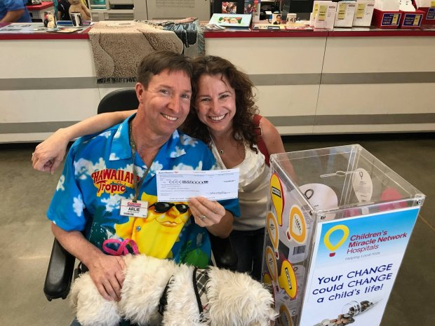 Arlie and Shari Smith earlier this year made a $10,000 donation to the UCSF Benioff Children's Hospital in Oakland. (Photo courtesy of the Smith family)