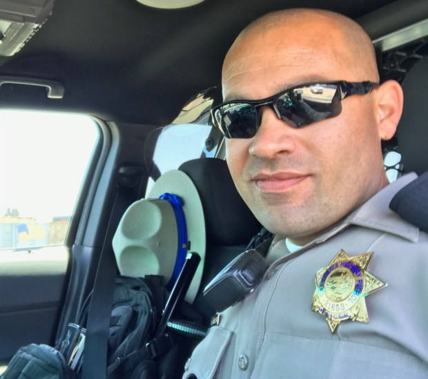 CHP Officer Andrew Camilleri was killed on Christmas Eve when a suspected DUI driver plowed into the back of his parked patrol car, Dec. 24, 2017. (Courtesy Sharon Camilleri)