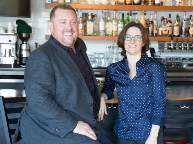 Ben Seabury, left, and Susannah Blumenstock, who own the popular Little Star Pizza restaurant chain, opened the popular The Star on Park at the former Capone's Speakeasy site last year. The Star on Park is among the restaurants participating in the first Alameda Restaurant Week from Jan. 12-21.