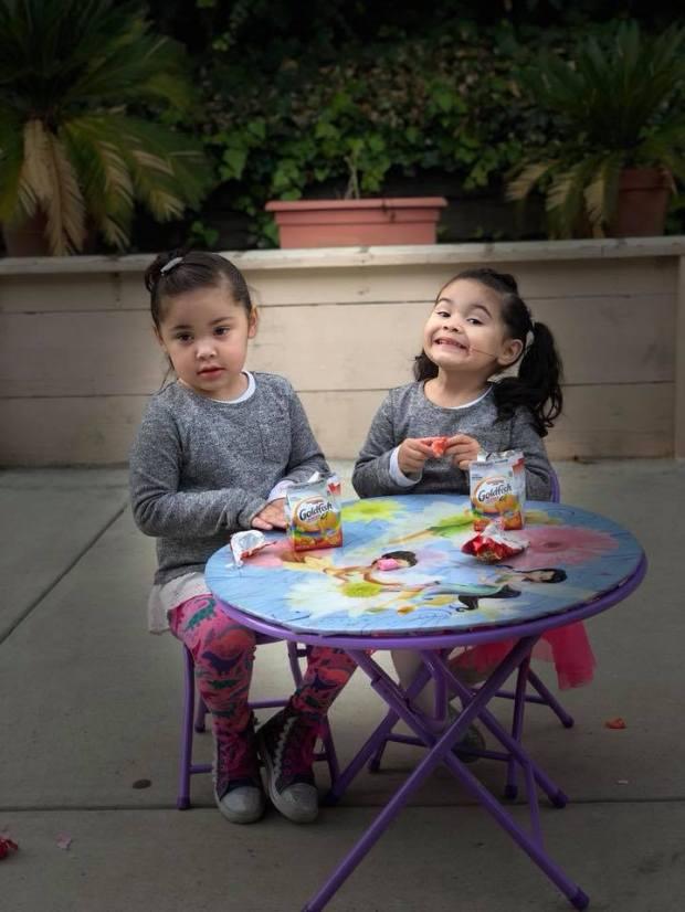 A photo of Lenaxy, 4, and Camila Cardoza, 2. (Courtesy of the Cardoza family.)