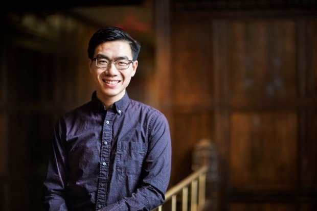 Kevin Chen, 21, is one of two former Fremont students who have beenselected as part of this year's Churchill Scholarship from the Winston Churchill Foundation. (Image courtesy Winston Churchill Foundation)