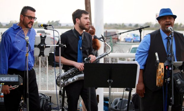 Members of A Touch of Class perform funk, pop and rhythm and blues atAntioch waterfront on Aug. 20 as part of the summer concert series hosted by the Arts and Cultural Foundation. Judith Prieve /Staff