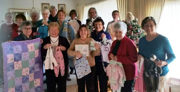 Pleasant Hill-Martinez AAUWMembers of the Pleasant Hill-Martinez American Association of University Women chapter recently donated baby items for new moms through the Pleasant Hill Social Service Program at Hillcrest Congregational Church. Appearing in the photo are Sherrie Moore, from bottom left, Bea Ball, Jennifer Apkarian, Marilyn Thelen, Janet Sullivan, Charlotte Liniger and Susanne Rheingruber; from middle left, Beverly Diefenbacher, Suzanne Salter and Lynn Murphy; from top left, Marlene Maksel, Ish Mendonsa, Sandy Wolfe, Claudia bass, Beth Madruga and Georgette Armstrong.