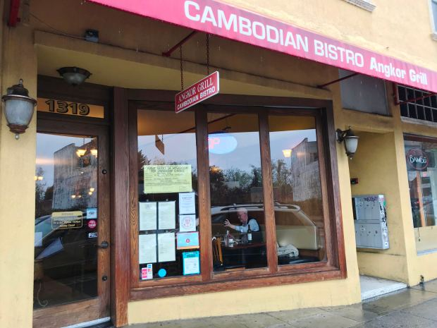 The exterior of the Angkor Grill Cambodian Bistro is seen here on April 5, 2018 ahead of its closure several days later. (Darin Moriki/for Bay Area News Group)