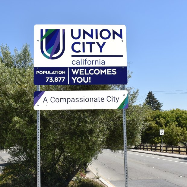 Union City has installed new signs declaring the city a compassionate oneat city entrance points. (Photo courtesy of Union City)