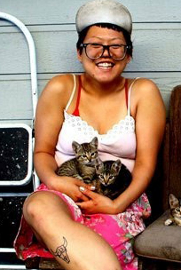 This 2012 photo provided by Terry Ewing shows Ara Jo in New Orleans. Friends called Jo the most adoptable person ever, a vibrant artist and community organizer who could make friends with anyone, anywhere. Jo, 29, grew up in Los Angeles and was living in Oakland. Authorities notified her family, including her parents who flew in in from South Korea, of her death on Monday, Dec. 5, 2016. Jo was one of dozens of people killed in the fire at the Ghost Ship warehouse fire in Oakland, Calif., that started Dec. 2, 2016. (Terry Ewing via AP)