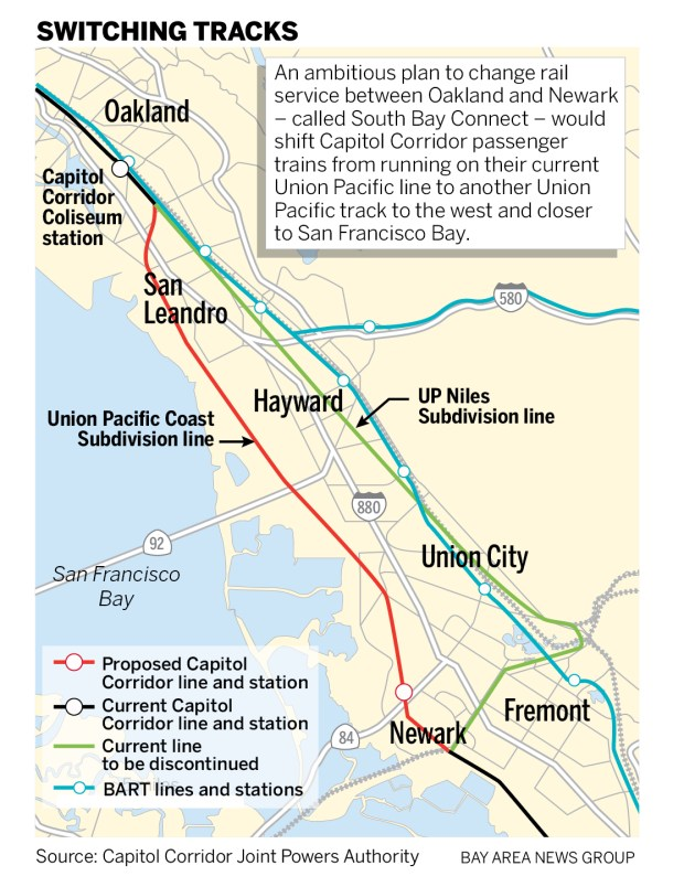 South Bay Connect Project Could Dramatically Change East Bay Rail Service The bay area trails collaborative gis/mapping working group and its regional partners are in the process of developing a detailed map of all existing and planned trails that comprise the regional trail network. east bay rail service