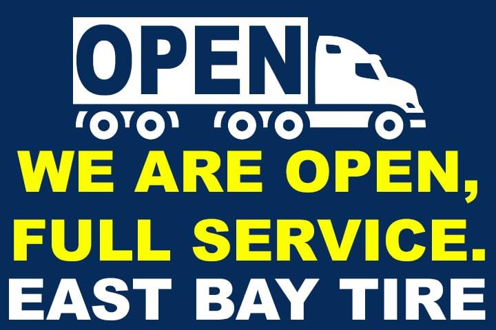 East Bay Tire is Fully Open