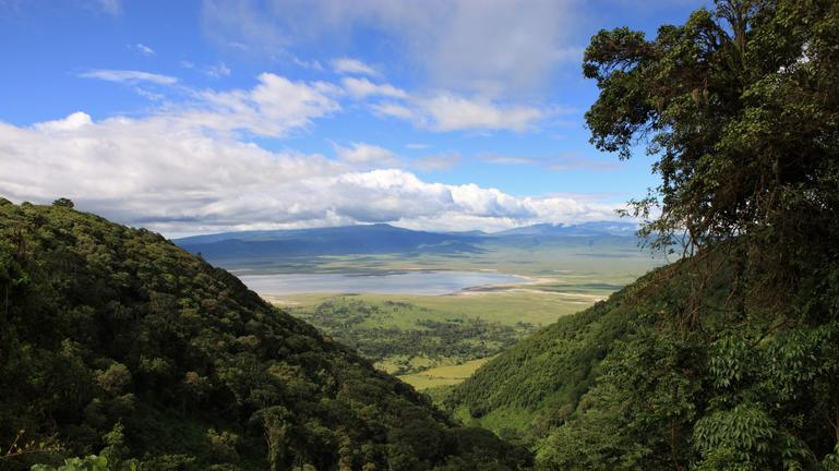 Ngorongoro Crater Aeriel View
