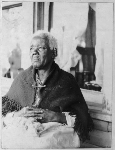 Sarah Gudger of Asheville, North Carolina was born Sept 15, 1816. She was a remarkable 121-years-old when interviewed by the Works Progress Administration in their collection of interviews with former slaves. (Library of Congress archive photo)