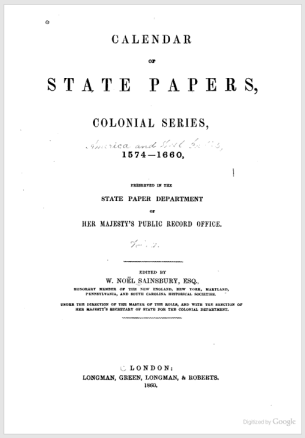Calendar-of-State-Papers