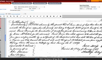 Step-by-step, visual guide to searching the Craven County Land Records 1737-1983 Online Database