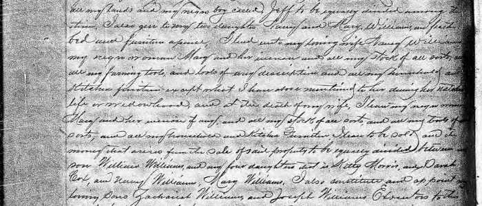 Will of Talbot Williams (1820) – Craven County