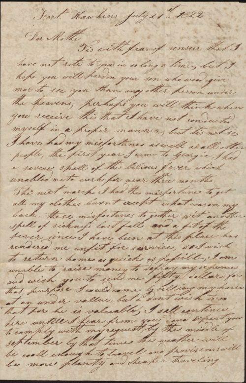 David Roach letter p1