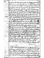 George Thomas to John Speer (1744)