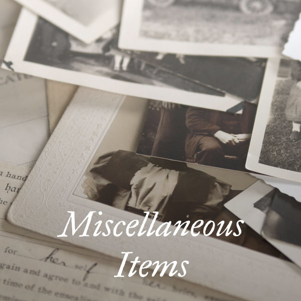 Miscellaneous Items
