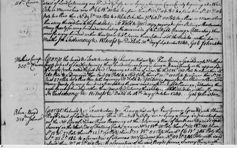 Mathias-Camp-Kemp-grant-14-Oct-1748-Bk-10-p-135.jpg