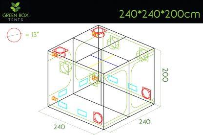 Green Box Tent 240x240x200 2