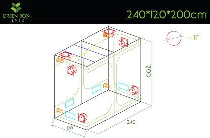 Green Box Tent 240x120x200 2