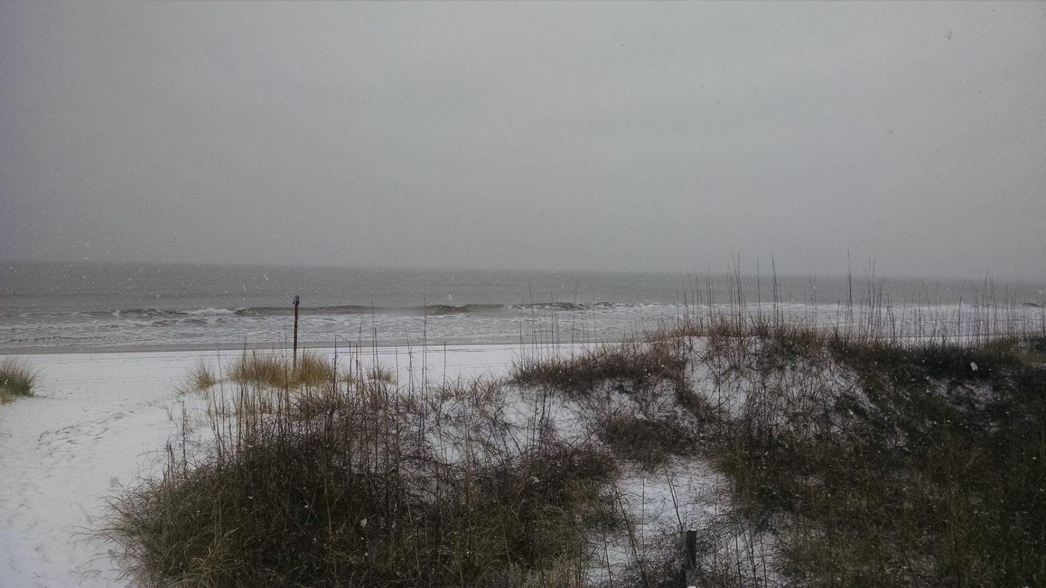Snow Covered Beaches In Emerald Isle Eastcoastnc Com