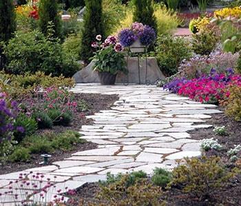 A Path Leading Through a Garden