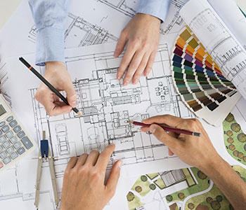 Designers Creating a Landscape Design Blueprint