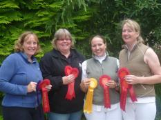 Winning Senior Dressage Team of Katie Nichols, Mel Wilton, Hayley Matthews and Sally Callow