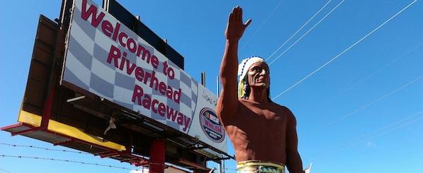 Riverhead Raceway, Monday morning.