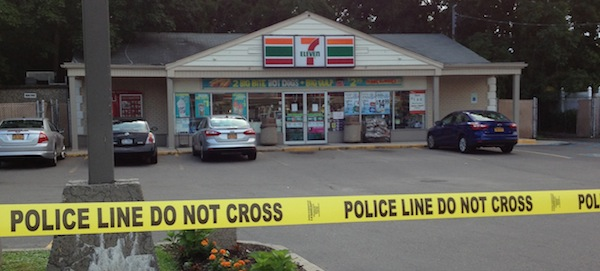 Six cars remained in the parking lot at the Cutchogue 7-Eleven Monday afternoon.