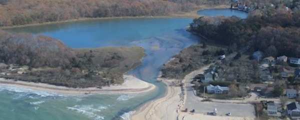 The entrance to Goldsmith Inlet in Peconic   Courtesy Group to Save Goldsmith Inlet