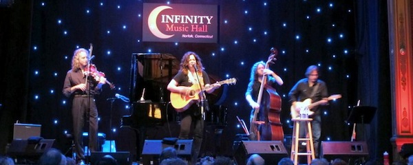 Caroline Doctorow with the Steamrollers: Gary Oleyar, Max Johnson and Andrew Carillo at Infinity Hall in Norwalk, Conn.