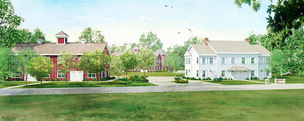 A rendering of Vesta Development's proposed Sandy Hollow Cove apartments in Southampton