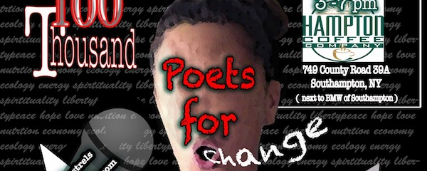1,000 Poets for Change at the Hampton Coffee Company this weekend.