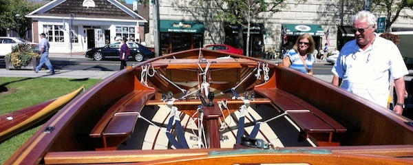 Classic boat, modern fittings. A Wooden Boat Works Creation. Greenport, Sept. 20.