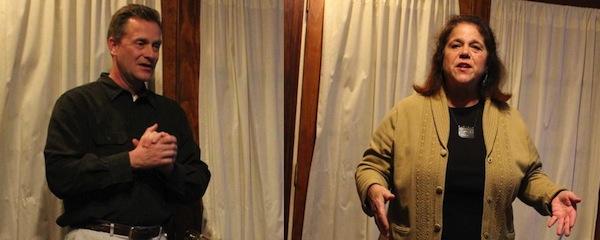 Riverhead Town Supervisor Sean Walter, and Angela DeVito, his Democratic challenger