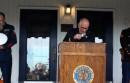 Sag Harbor American Legion Chelberg & Battle Post Commander Marty Knab, former Commander Ralph Ficorelli and Sag Harbor VFW Commander Roger King at Monday's ceremony.
