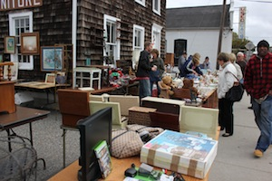 A tag sale in October outside the Riverside furniture store.